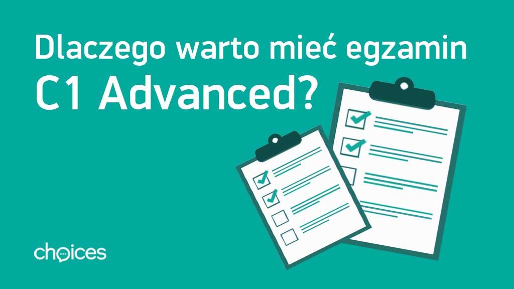Certyfikat c1 advanced